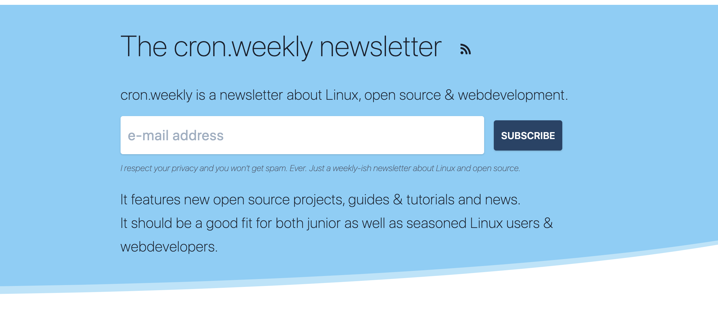 The cron weekly newsletter