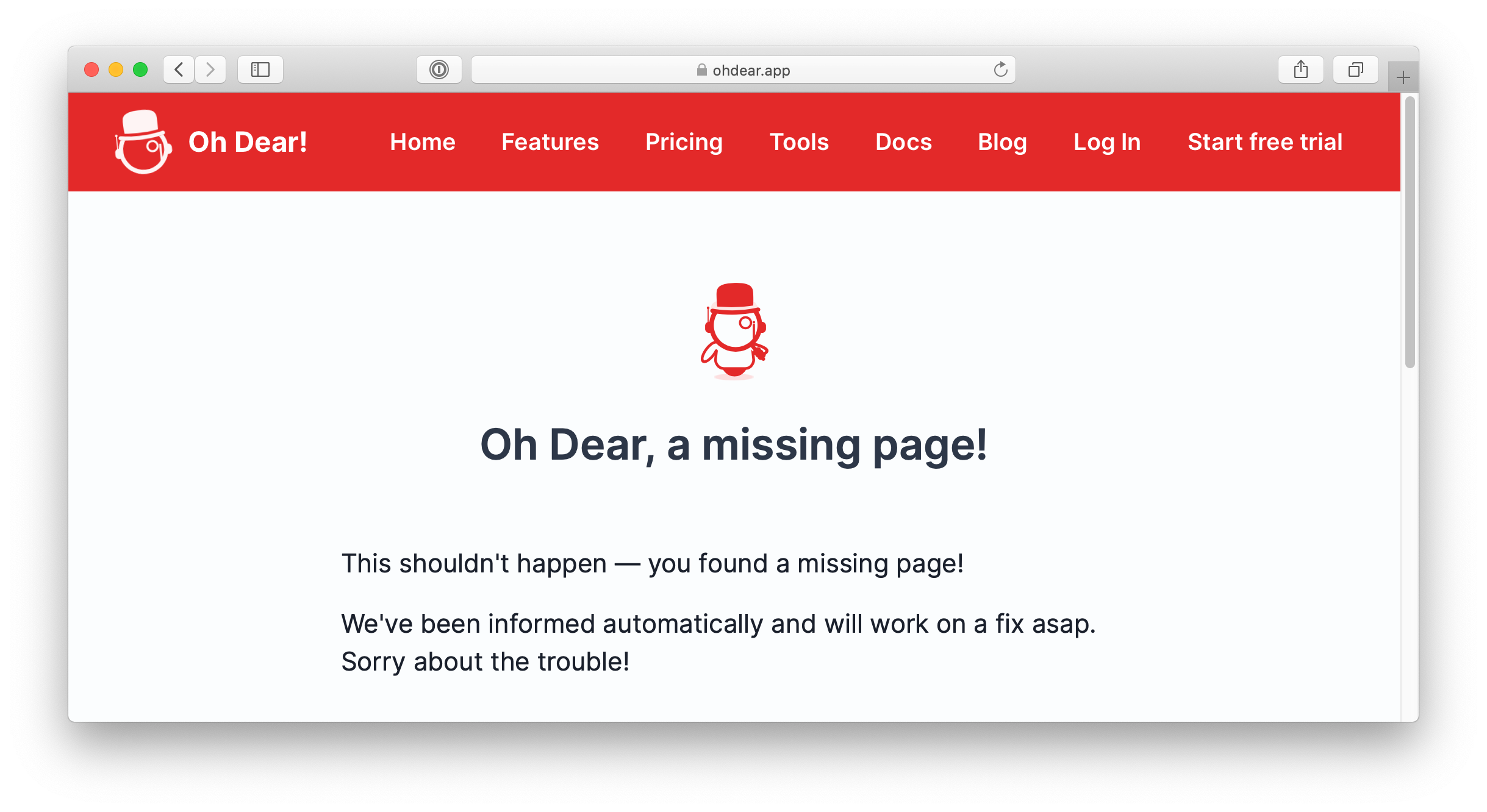 404 content spoofing error page