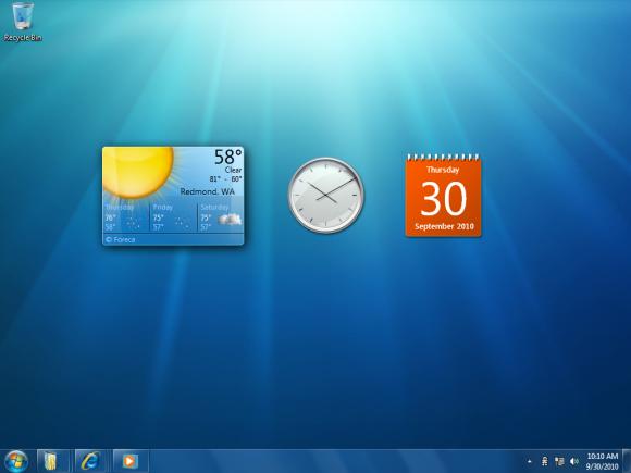 Windows 7 - Gadgets