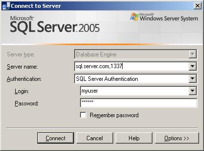 Connect Sql Server Management Studio Express To Alternate Tcp Port