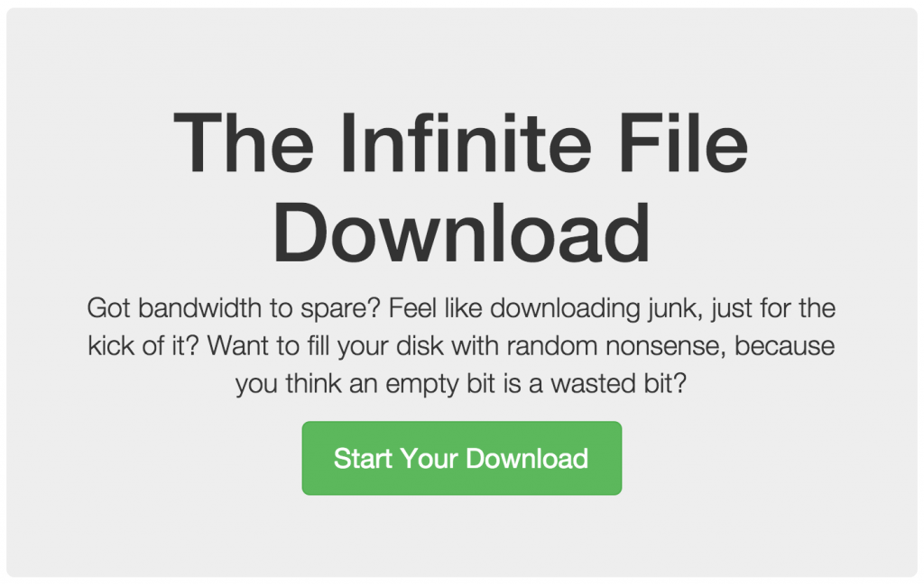The Infinite File Download