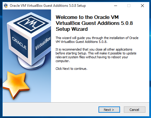 Auto resize screen size for Windows 10 guest VMs in Virtualbox